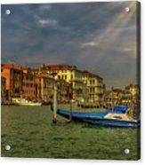 Venice Grand Canal God Sun Rays Acrylic Print