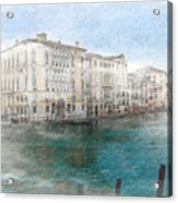 Venice Grand Canal Watercolour Painting Acrylic Print