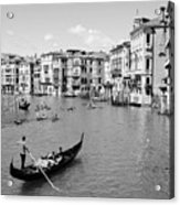 Venice In Black And White Acrylic Print