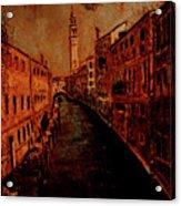 Venice In Golden Sunlight Acrylic Print