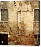 Venice Italy Crumbling Stucco Wall Acrylic Print