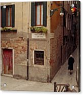 Venice Lady In Black Acrylic Print