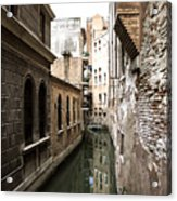 Venice One Way Street Acrylic Print by Milan Mirkovic