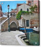 Venice Piazzetta And Bridge Acrylic Print by Italian Art