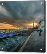 Venice Promenade Acrylic Print