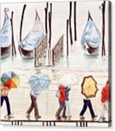 Venice Rain Acrylic Print