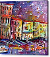 Venice Reflections Celebrating Italy Painting Acrylic Print by Ginette Callaway
