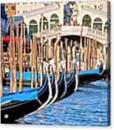 Venice Sunny Rialto Bridge Acrylic Print