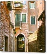 Venice- Venezia-calle Veneziana Acrylic Print by Italian Art
