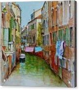 Venice Washing Day Acrylic Print