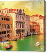 Venice Water Taxis Acrylic Print