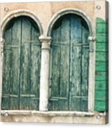 Venice Window Flower Pot Acrylic Print