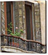 Venice Windows And Shutters Acrylic Print