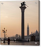 Venice - Winged Lion Of St Mark Acrylic Print