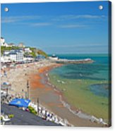 Ventnor Beach And Seafront Acrylic Print