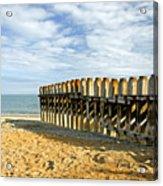 Ventnor Beach Groyne Acrylic Print