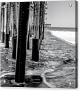 Ventura Pier Bxw Acrylic Print