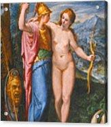 Venus And Minerva In A Landscape Acrylic Print