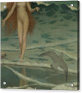Venus Born Of The Sea Foam  The Birth Of Venus, Detail Acrylic Print