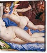 Venus, Cupid And A Satyr Acrylic Print