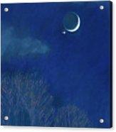 Venus Moon Conjunction Acrylic Print