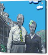 Vera And Al As The Simpsons Acrylic Print