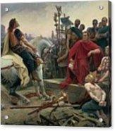 Vercingetorix Throws Down His Arms At The Feet Of Julius Caesar Acrylic Print