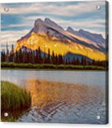 Vermillion Lakes And Mt Rundle II Acrylic Print