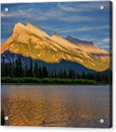 Vermillion Lakes And Mt Rundle Acrylic Print