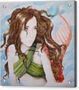 Vermillion Mermaid Acrylic Print