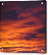Vermillion Sky Acrylic Print