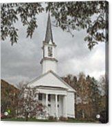 Vermont Church Acrylic Print