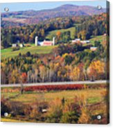 Vermont Countryside View Pownal Acrylic Print