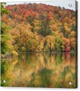 Vermont Fall Foliage Reflected On Pogue Pond Acrylic Print