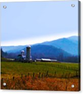 Vermont Farm Acrylic Print by Bill Cannon