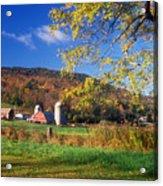 Vermont Farm In Autumn Acrylic Print