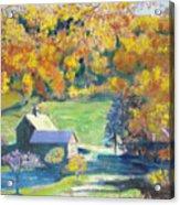 Vermont Farm Acrylic Print by Lyn Vic