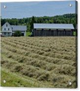 Vermont Farmhouse With Hay Acrylic Print