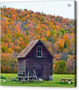 Vermont Garden Shed In Autumn Acrylic Print