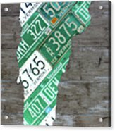 Vermont License Plate Map Art Edition 2017 Acrylic Print