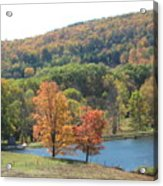 Vermont Pond Acrylic Print by Lyn Vic
