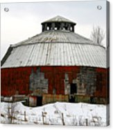 Vermont Round Barn Acrylic Print