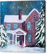 Vermont Studio Center In Winter Acrylic Print