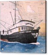 Verna Jean Fishing Boat Nautical Chart Map Acrylic Print