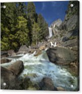 Vernal Falls Yosemite National Park California Art Print