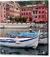 Vernazza Fishing Boats Acrylic Print