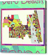Vero Beach Map4 Acrylic Print