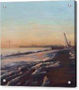 Verrazano Bridge And The Narrows Acrylic Print