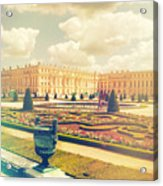 Versailles Gardens And Palace In Shabby Chic Style Acrylic Print