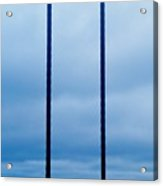 Vertical Cables Acrylic Print